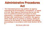 administrative procedures act90
