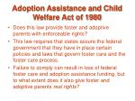 adoption assistance and child welfare act of 1980