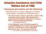 adoption assistance and child welfare act of 198044