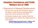 adoption assistance and child welfare act of 198045