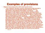 examples of provisions21