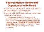 federal right to notice and opportunity to be heard