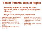 foster parents bills of rights