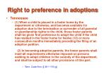 right to preference in adoptions