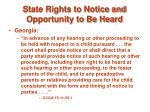 state rights to notice and opportunity to be heard