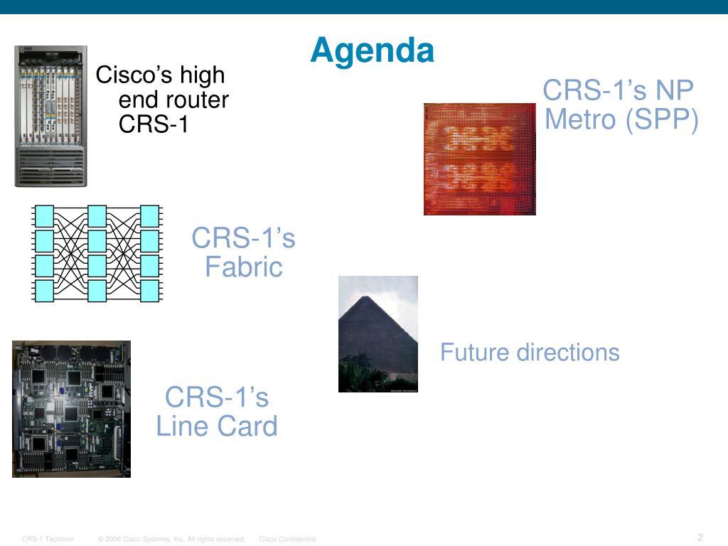 Cisco's high end router
