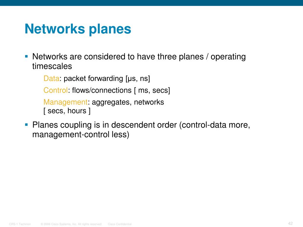 Networks planes