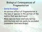 biological consequences of fragmentation56