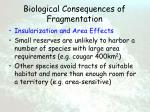 biological consequences of fragmentation58
