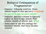 biological consequences of fragmentation61