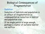 biological consequences of fragmentation65