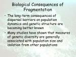 biological consequences of fragmentation70
