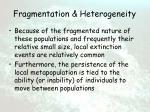 fragmentation heterogeneity12