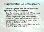fragmentation heterogeneity13