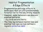 habitat fragmentation edge effects