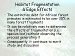 habitat fragmentation edge effects52
