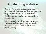 habitat fragmentation39