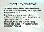 habitat fragmentation44