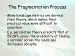 the fragmentation process48