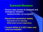 eyewash showers