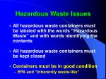 hazardous waste issues