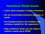 hazardous waste issues46