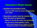 hazardous waste issues47