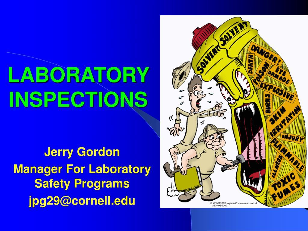 laboratory inspections l.