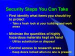 security steps you can take