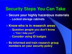 security steps you can take71