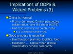 implications of odps wicked problems 3