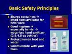 basic safety principles