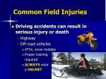 common field injuries9