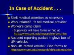in case of accident