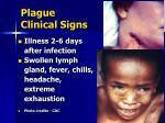 plague clinical signs