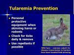 tularemia prevention