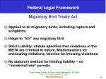 federal legal framework