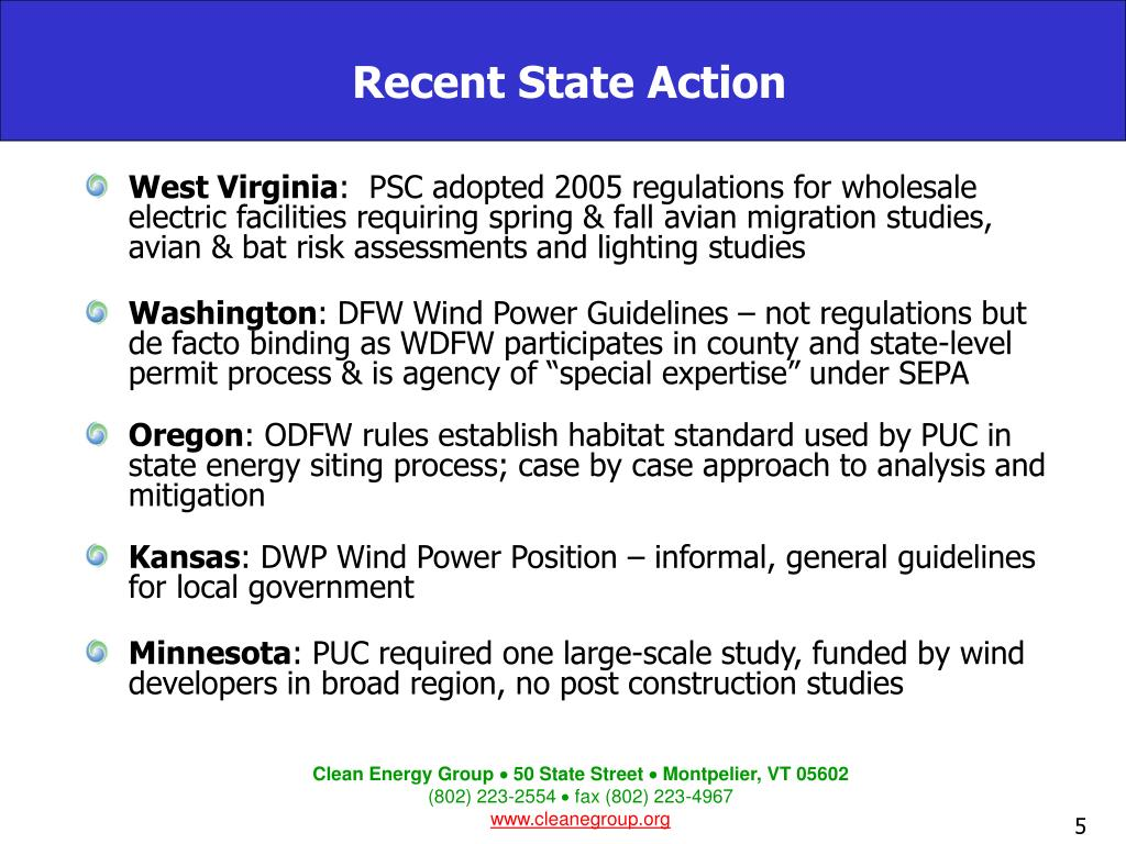 Recent State Action