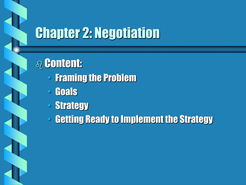 chapter 2 negotiation l.