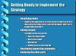 getting ready to implement the strategy17