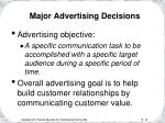 major advertising decisions16