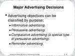 major advertising decisions17