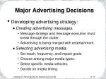 major advertising decisions19