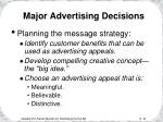 major advertising decisions20