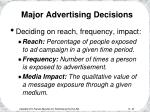 major advertising decisions25