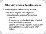 other advertising considerations31
