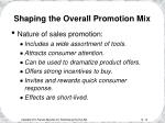 shaping the overall promotion mix10