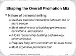 shaping the overall promotion mix9