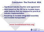 conclusion the practical msa
