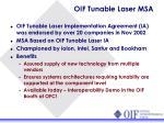 oif tunable laser msa
